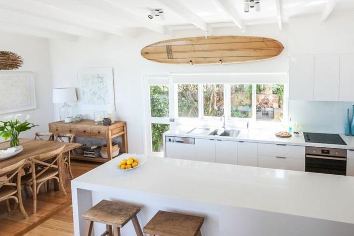 D corez vos int rieurs avec une planche de surf for Planche bois cuisine
