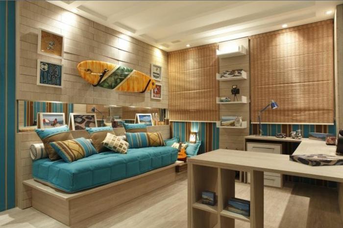 planche-de-surf-décoration-murale-dans-une-chambre-fantastique