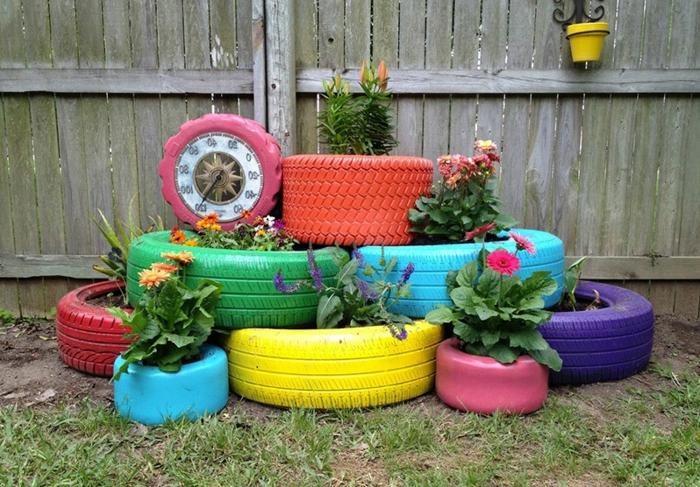 pneu-recyclage-originale-idée-coloré