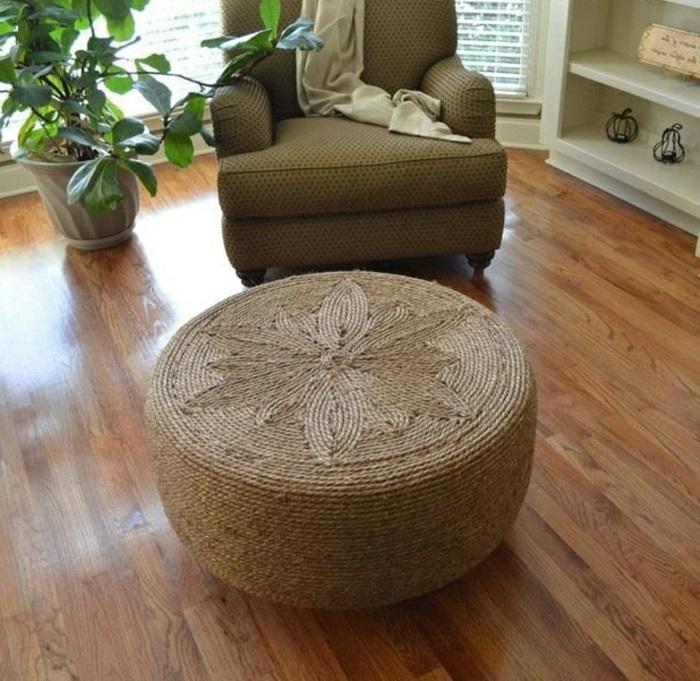 pneu-recyclage-originale-idée-meuble-chaise-ratin