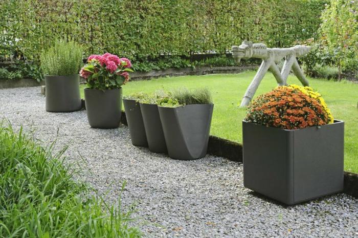 40 pots de fleurs qui vont allumer votre imagination - Grand pot de jardin ...
