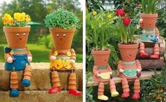 pots-de-fleurs-jardiniere-créative-sculpture