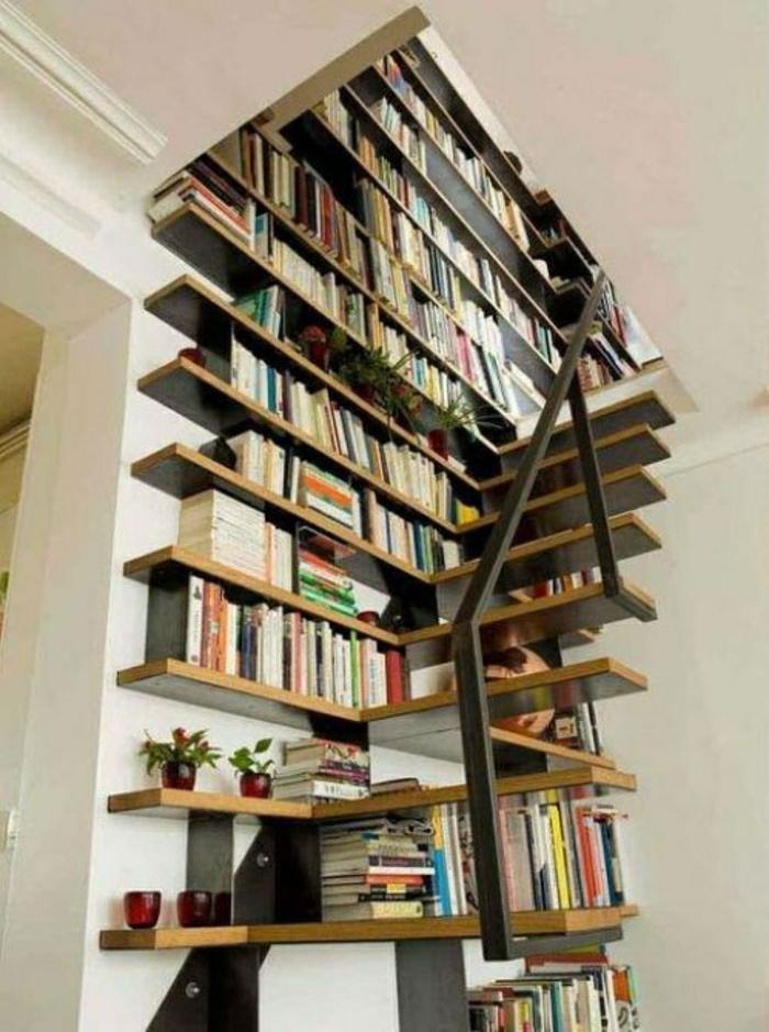 rangement-sous-escalier-en-bois-bibliothèque-sous-escalier-meubles-sous-escalier