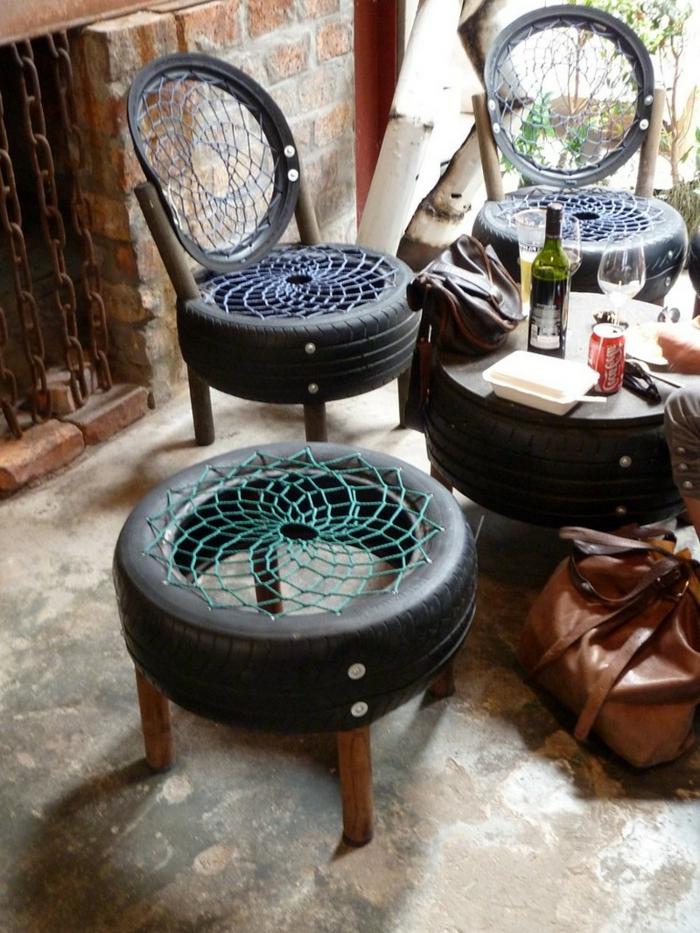 recyclage-de-pneu-quoi-faire-chaises-table-basse