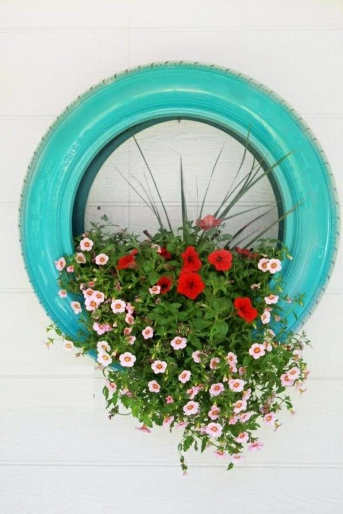recyclage-pneu-idée-artistique-pot-de-fleurs