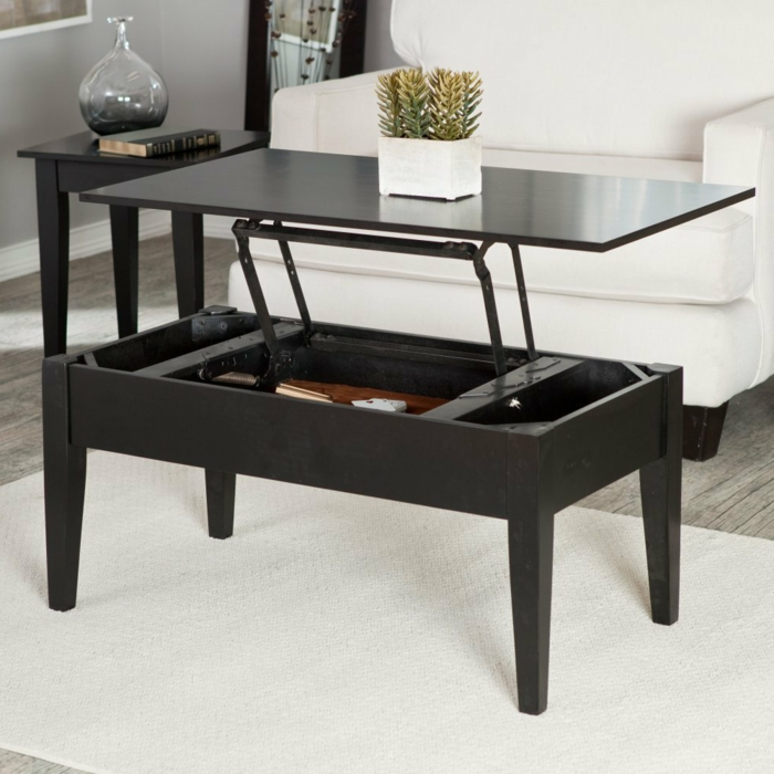 table basse pliante pour salon. Black Bedroom Furniture Sets. Home Design Ideas