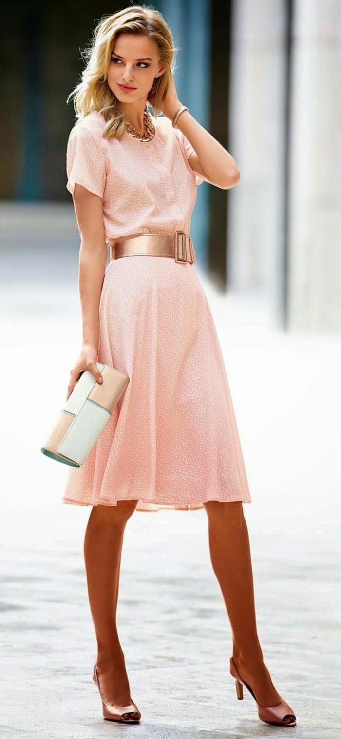 Quelle veste avec robe rose pale les tendances de la for Quelle couleur associer avec du rose pale