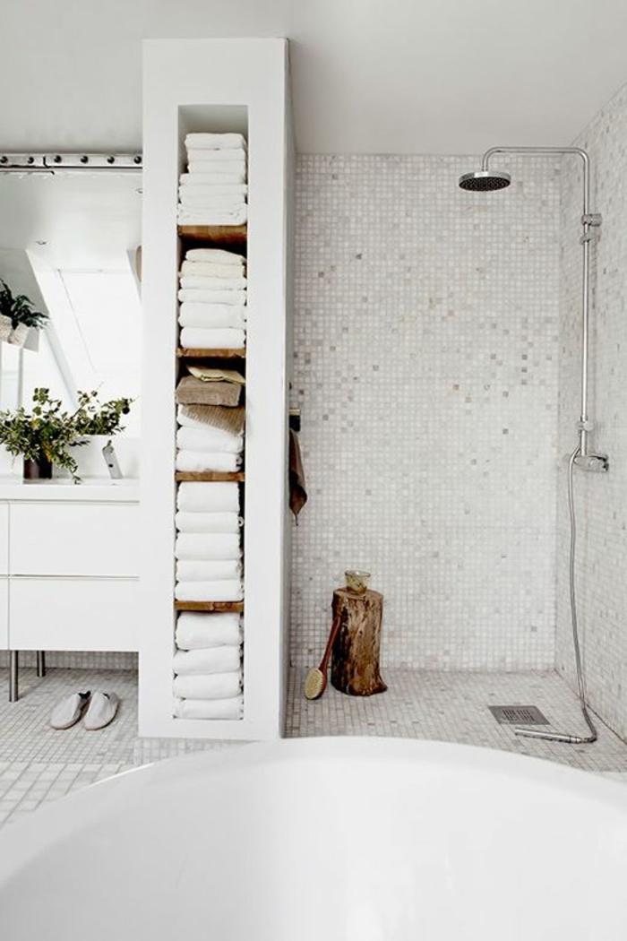 Le th me du jour est la salle de bain r tro Salle de bains blanc