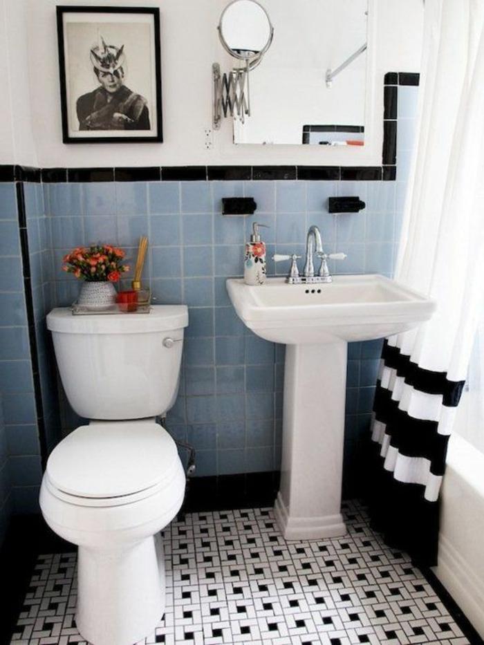carrelage salle bain noir blanc le theme du jour est la salle de bain retro - Photo Carrelage Salle De Bain Noir Et Blanc