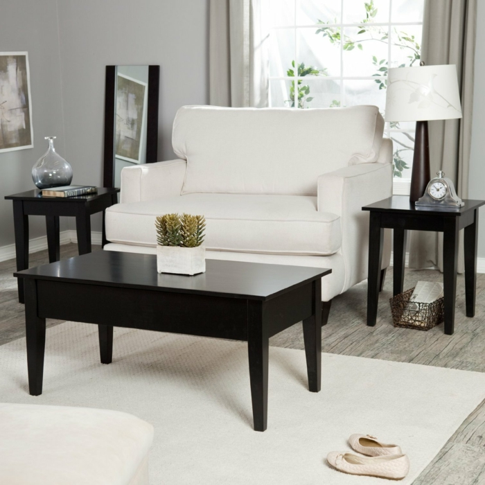 la table basse relevable pour votre salon fonctionnel. Black Bedroom Furniture Sets. Home Design Ideas