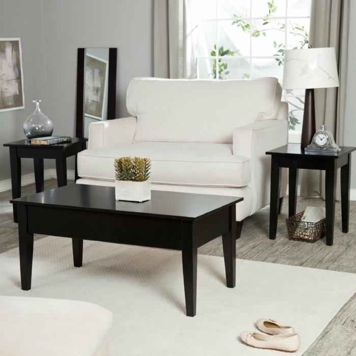 table-basse-convertible-salle-de-séjour-blanc-canapé-plante-vert