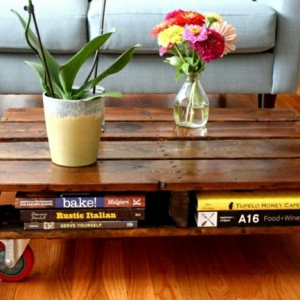 La table basse palette - 60 idées créatives pour la fabriquer