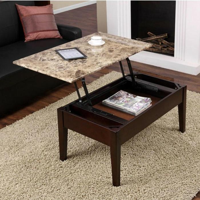 table-basse-extensible-relievable-tapis-marbre