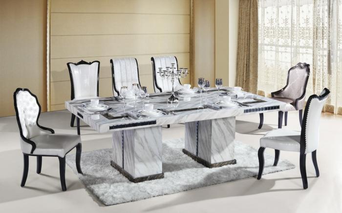 Carrelage de Cuisine  Carrelage de Cuisines # Marbre Blanc Dorure Metal Table