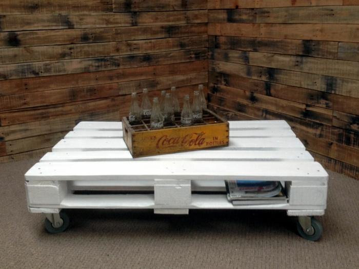 table-basse-palette-meuble-idées-blanche