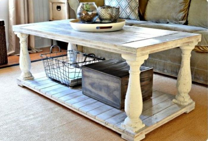 table-basse-palette-meuble-idées-vintage