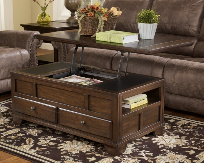 la table basse relevable pour votre salon fonctionnel. Black Bedroom Furniture Sets. Home Design Ideas