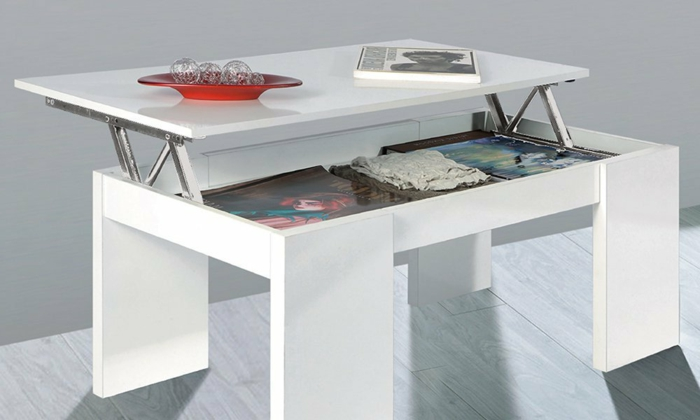 La table basse relevable pour votre salon fonctionnel - Table modulable ikea ...