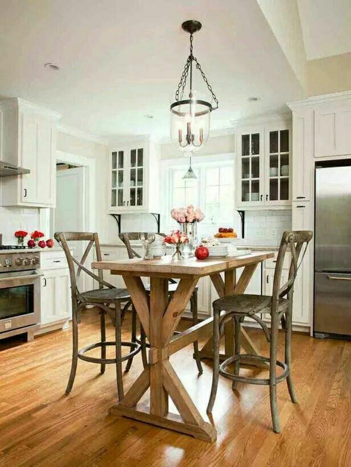 table-haute-en-bois-bar-de-cuisine-chaise-haute-en-bois-style-rustique-cuisine