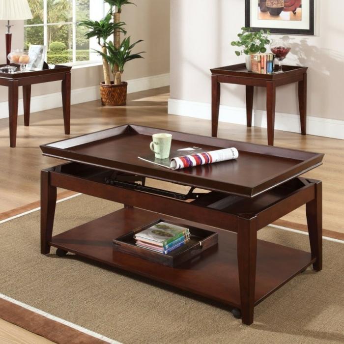 table-relevable-décoration-bois-brune