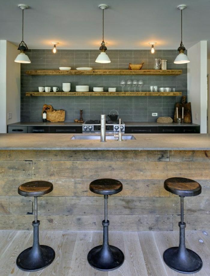 Comment Adopter Le Tabouret De Bar Dans Lintérieur Moderne - Bar de maison design pour idees de deco de cuisine