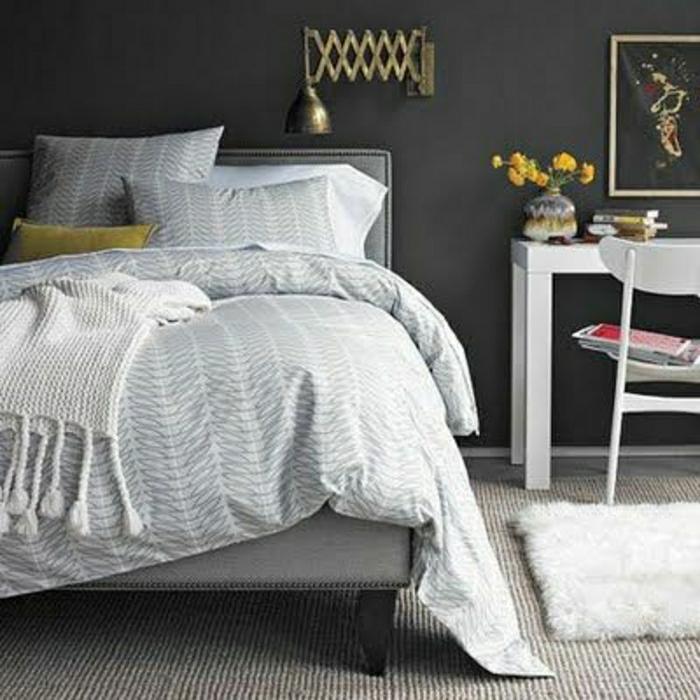 La descente de lit comment on peut la choisir - Chambre mur gris ...