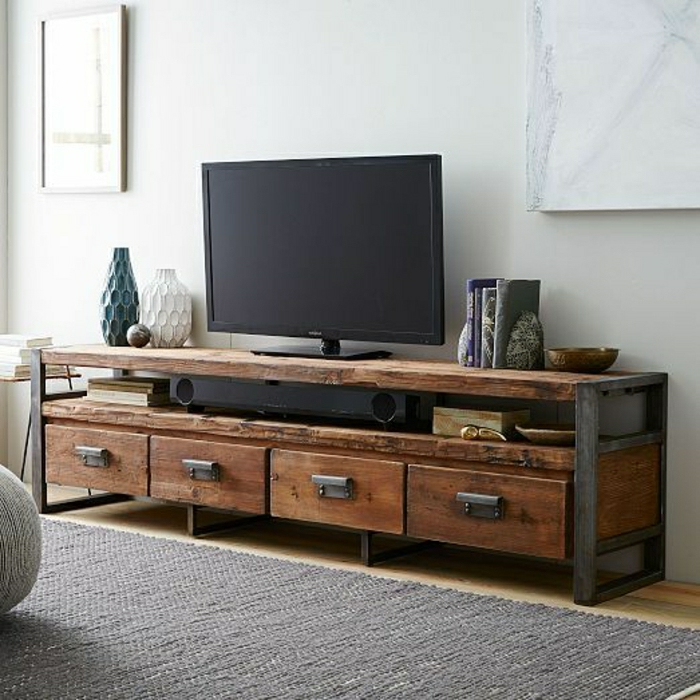 Le meuble t l en 50 photos des id es inspirantes for Meuble tv console