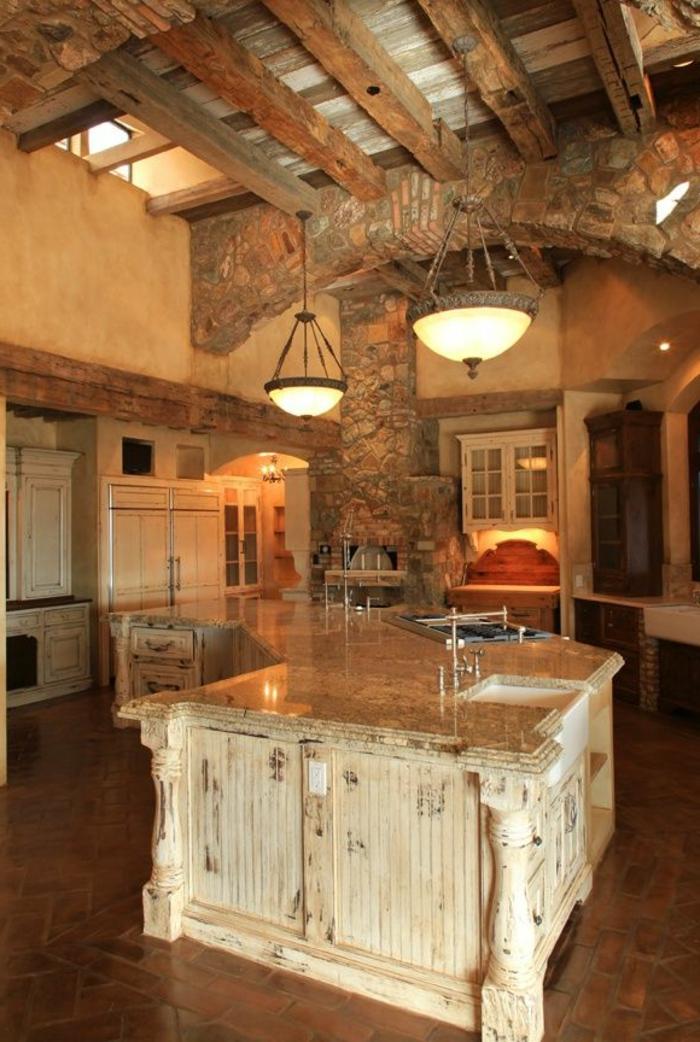 une-belle-cuisine-meuble-teck-en-bois-lustre-de-cuisine-carrelage-cuisine-mderne