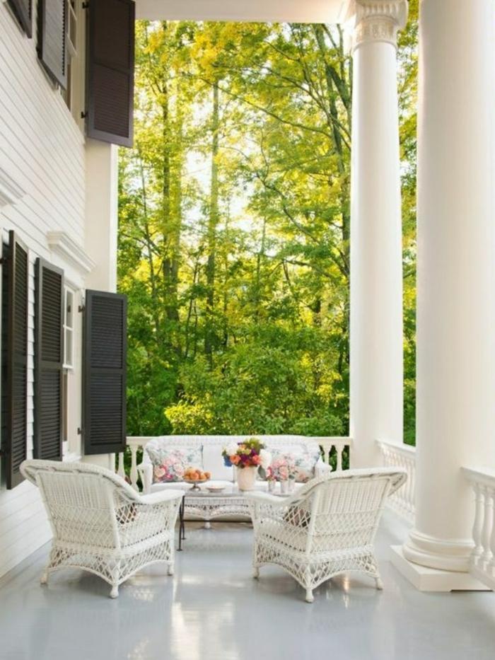 Les meubles en rotin sont le th me du jour - Meubles veranda jardin ...