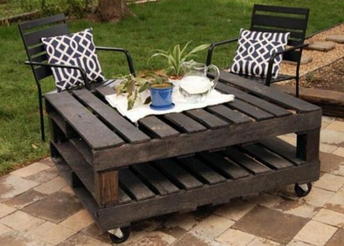 La table basse palette 60 id es cr atives pour la - Fabriquer une table de picnic en bois ...