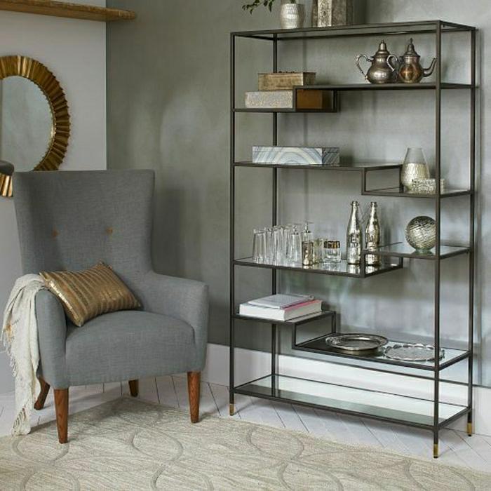 étagères-métalliques- étagère-métallique-décoration-d'espace-vintage