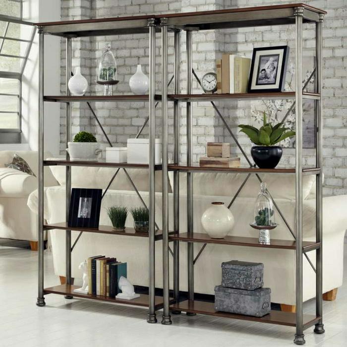étagères-métalliques-étagère-métallique-design-bois-et-métal