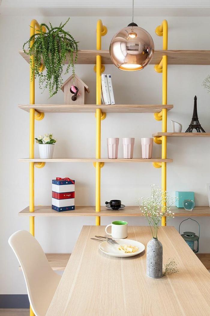 étagères-métalliques-étagère-métallique-jaune