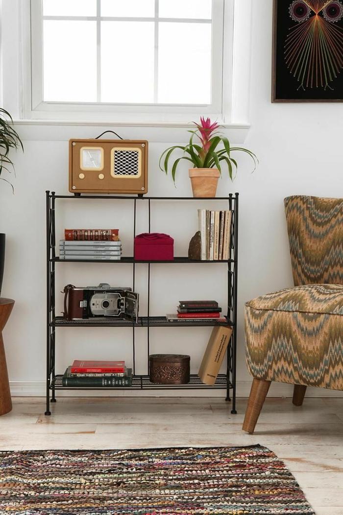 étagères-métalliques-étagère-métallique-sympa-carpette-originale