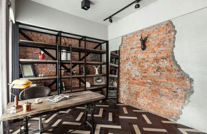 étagères-métalliques-étagère-murale-industrielle-intérieur-loft