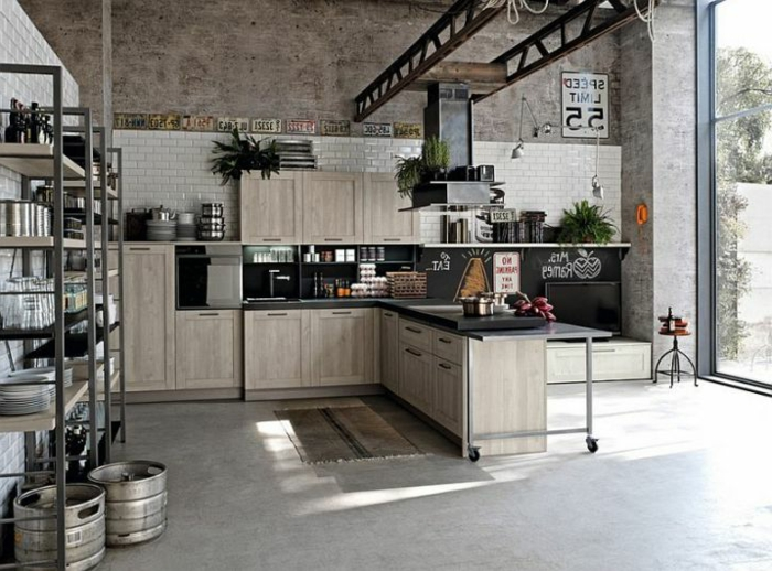 Industrial Metal Kitchen Cabinets