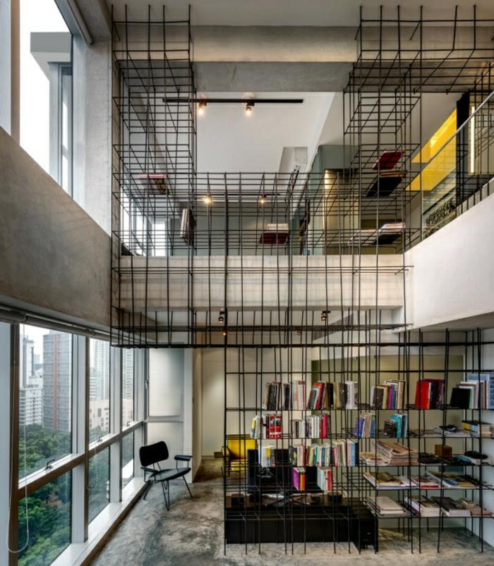 étagères-métalliques-originales-dans-les-lofts-modernes