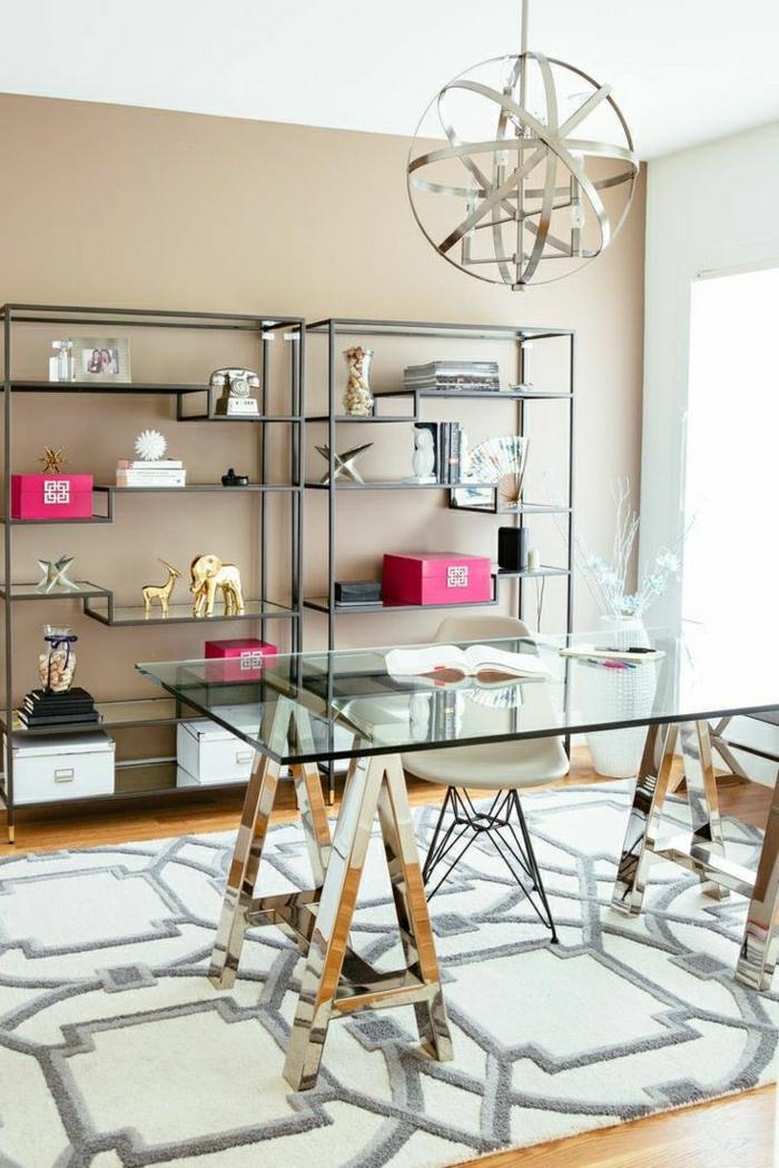 étagères-métalliques-uniques-étagère-luisante-table-plateau-en-berre-