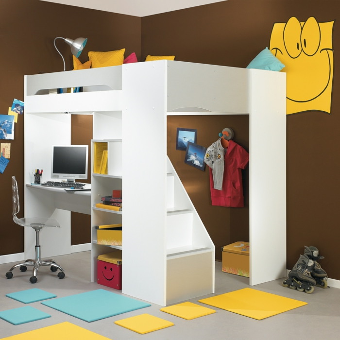 Le lit mezzanine ou le lit superspos quelle variante for Meuble chambre d enfant
