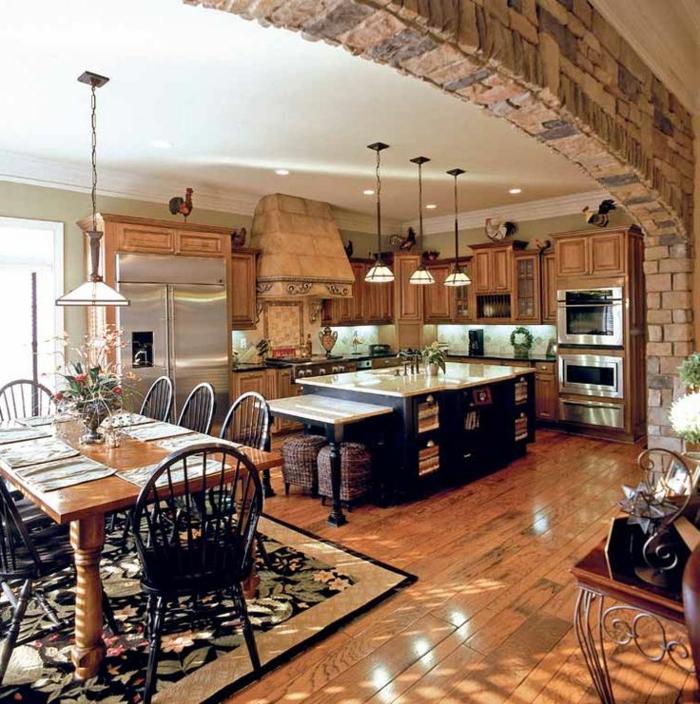 Deco Chambre Grise : cuisine en bois massif, cuisine scandinave meubles de cuisine en bois