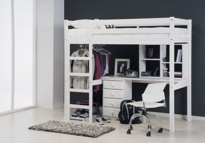 with lit mezzanine mobile. Black Bedroom Furniture Sets. Home Design Ideas