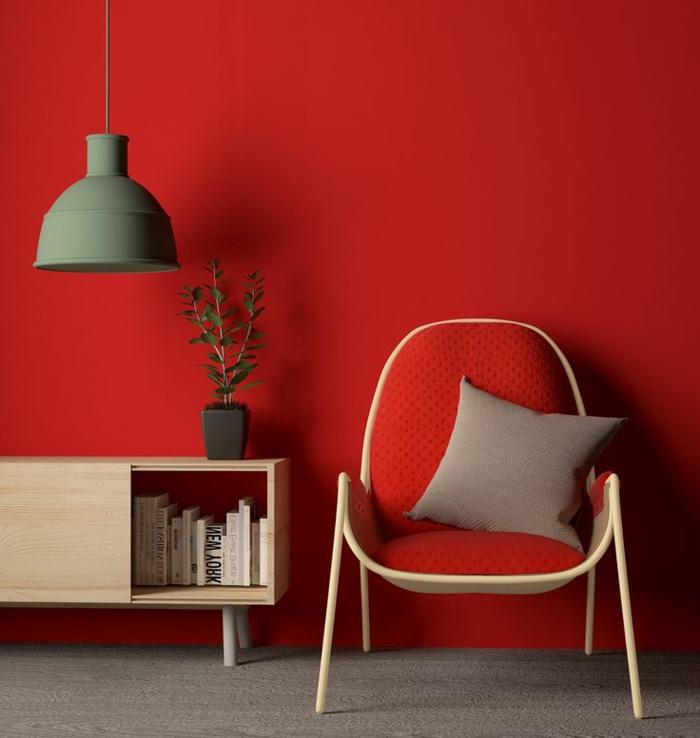 am nager la maison dans la gamme de la couleur carmin. Black Bedroom Furniture Sets. Home Design Ideas