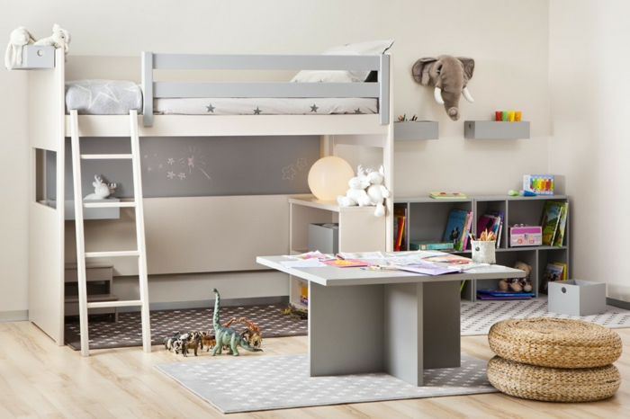Le lit mezzanine ou le lit superspos quelle variante for Chambre d enfant pas cher