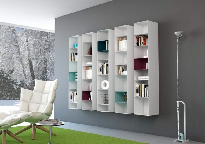 Meuble Rangement Salle De Bain Conforama : meuble-colonne-bibliothèque-en-bois-blanc-meubles-de-salon-murs …