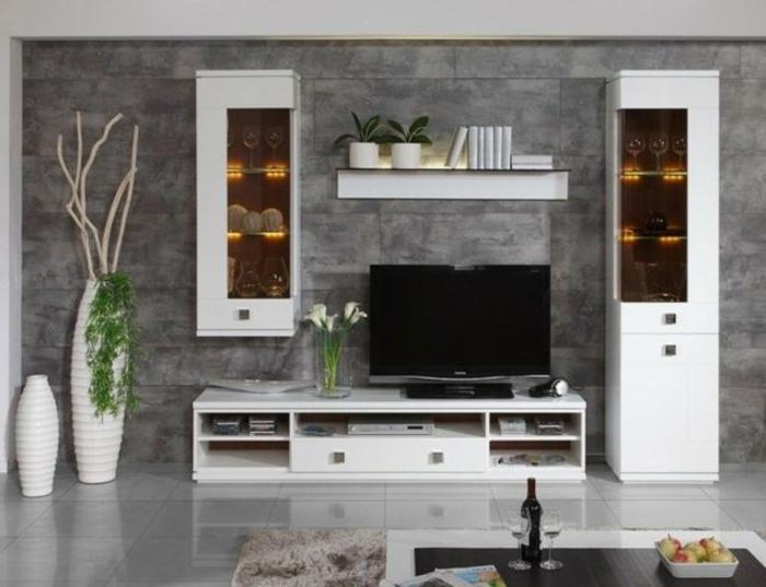 Colonne Salle De Bain Conforama : meuble-colonne-bibliothèque-en-bois-blanc-meubles-de-salon-table-de …