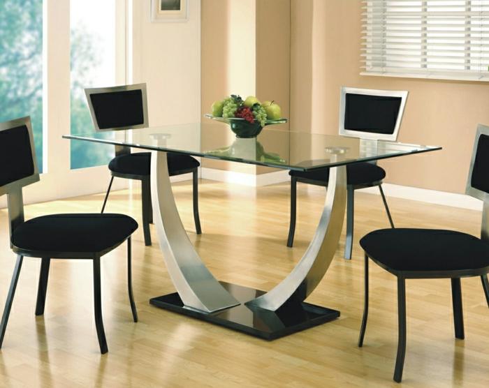 Aujourd hui on va vous pr senter le plateau de table en - Table de cuisine moderne en verre ...