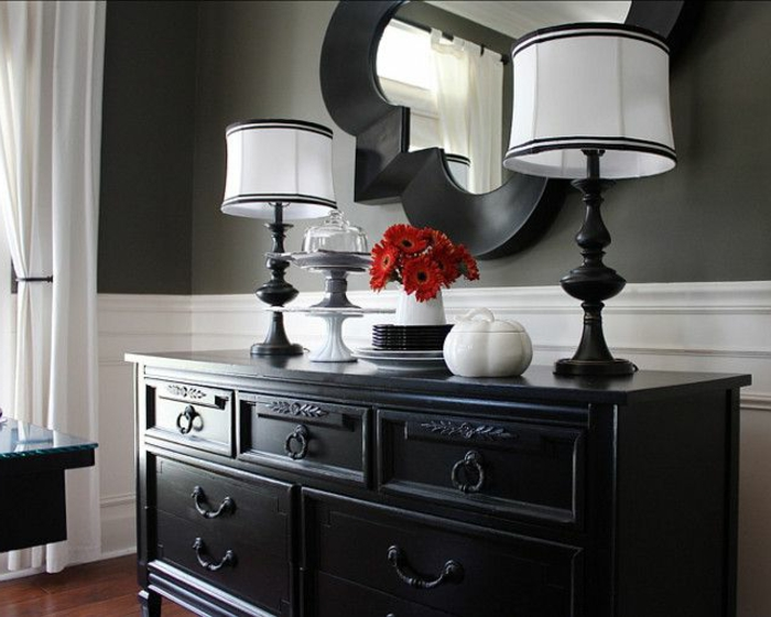 1-bahut-noir-laqué-salon-stylé-chic-miroir-fleur