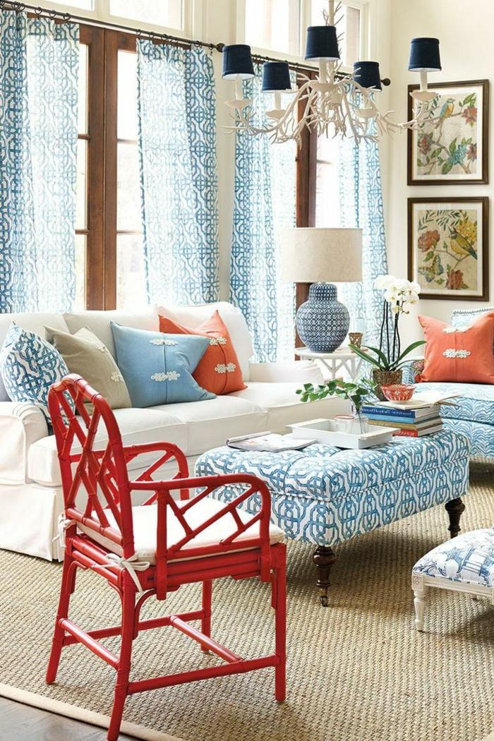 1-chaise-en-bois-de-couleur-carmin-rouge-pourpre-table-de-salon-blanc-bleu