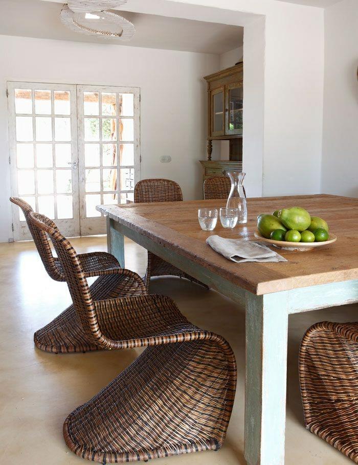 Notre inspiration du jour est la chaise en osier for Cuisine moderne en bois 2015
