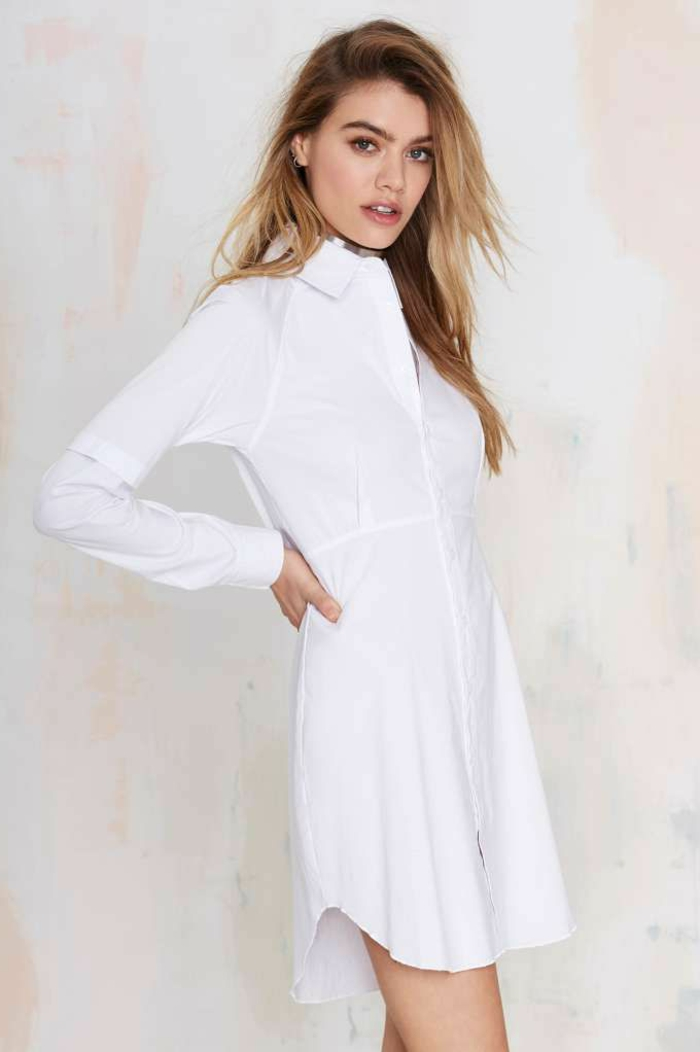 top robes blog robe chemisier blanc femme. Black Bedroom Furniture Sets. Home Design Ideas